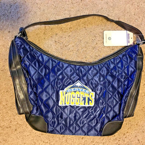 Littlearth NBA Denver Nuggets Quilted HOBO Purse Handbag - NAVY BLUE