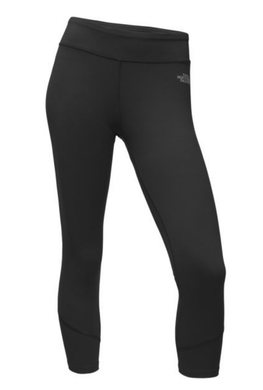 The North Face TNF Women's Pulse Mid-Rise Crop Capri Tights, Black - XS or M $50