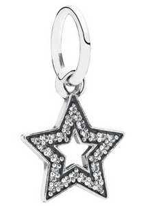 Authentic PANDORA Star Silver Dangle Charm 791348CZ CZ Sterling Silver
