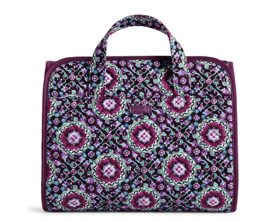 Vera Bradley Iconic Hanging Travel Organizer - Lilac Medallion Cosmetic Bag $60