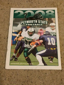 2008 PLYMOUTH STATE COLLEGE NEW HAMPSHIRE FOOTBALL MEDIA GUIDE b6