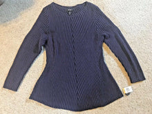 Load image into Gallery viewer, Style & Co Women Plus Sz Ribbed Sweater 3X Dark Grape Purple Or Ivy Green 2X 3X