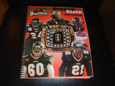 2001 OREGON STATE COLLEGE FOOTBALL MEDIA GUIDE EX-MINT BOX 1