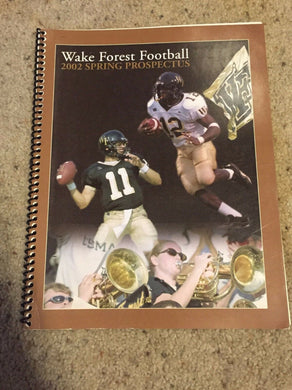 2002 WAKE FOREST SPRING PROSPECTUS  COLLEGE FOOTBALL MEDIA GUIDE - b6