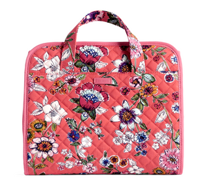 Vera Bradley Iconic Hanging Travel Organizer - Coral Floral - Cosmetic Bag - $58