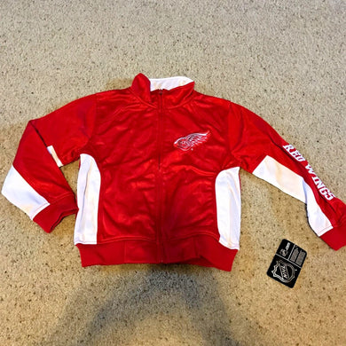 NHL Apparel DETROIT RED WINGS Tricot Track Jacket BOYS Size SMALL RED New