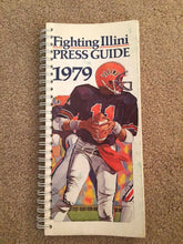 Load image into Gallery viewer, 1979 FIGHTING ILLINI UNIVERSITY OF ILLINOIS FOOTBALL BOOK MEDIA PRESS GUIDE B0X7