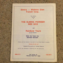 Load image into Gallery viewer, 1973 ELMIRA PIONEER RED SOX New York-Penn Minor League Baseball Program Boston