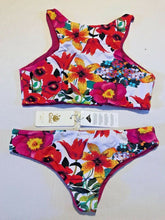Load image into Gallery viewer, Coral Biquinis 2pc Bikini Brazil KAWAII Floral or Python Swimwear Choose Pattern