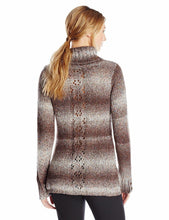 Load image into Gallery viewer, White Sierra Back Roads Mock Sweater Chestnut Multi Color Large New MSRP $70