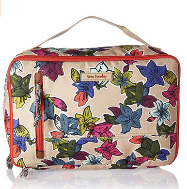 Vera Bradley Large Blush & Brush Makeup Case SUPERBLOOM SKETCH Falling Flowers
