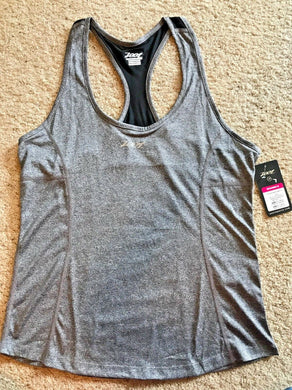 ZOOT SPORTS Women's Run Sunset Singlet Tank Top Black Heather  Sz LARGE  L