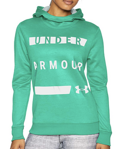 Under Armour UA ColdGear Womens Fleece Hoodie Work Mark -1321142 Green S  - $55