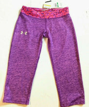 Load image into Gallery viewer, Under Armour HeatGear Girls Printed Running Capris - L - 1242957 -  Choose - $35