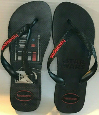 Havaianas Flip Flops Star Wars White/Blue Star or Black Darth Vader W 7/8 M 6/7