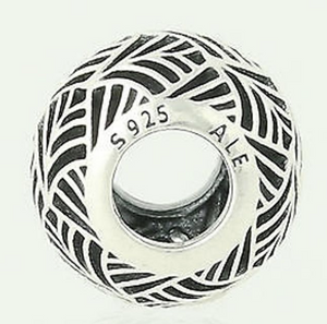 Authentic PANDORA Tropicana Openwork Silver Charm 791543 Sterling 925 Bead
