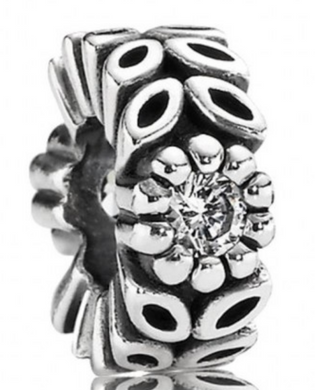 Authentic PANDORA Sparkling Forest Twice As Nice Flower Spacer 791224CZ Silver