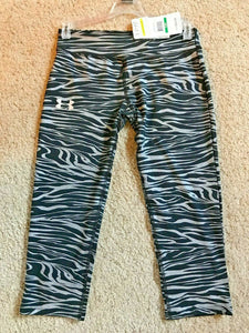 Under Armour HeatGear Girls Printed Running Capris - L - 1242957 -  Choose - $35