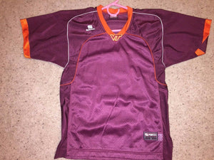 NEW Sportex Athletics VIRGINIA TECH Maroon Football Jersey Youth MEDIUM