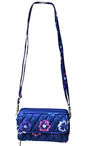 Vera Bradley All In One Crossbody Wristlet  Iphone - Ellie Flowers  15863 - $68