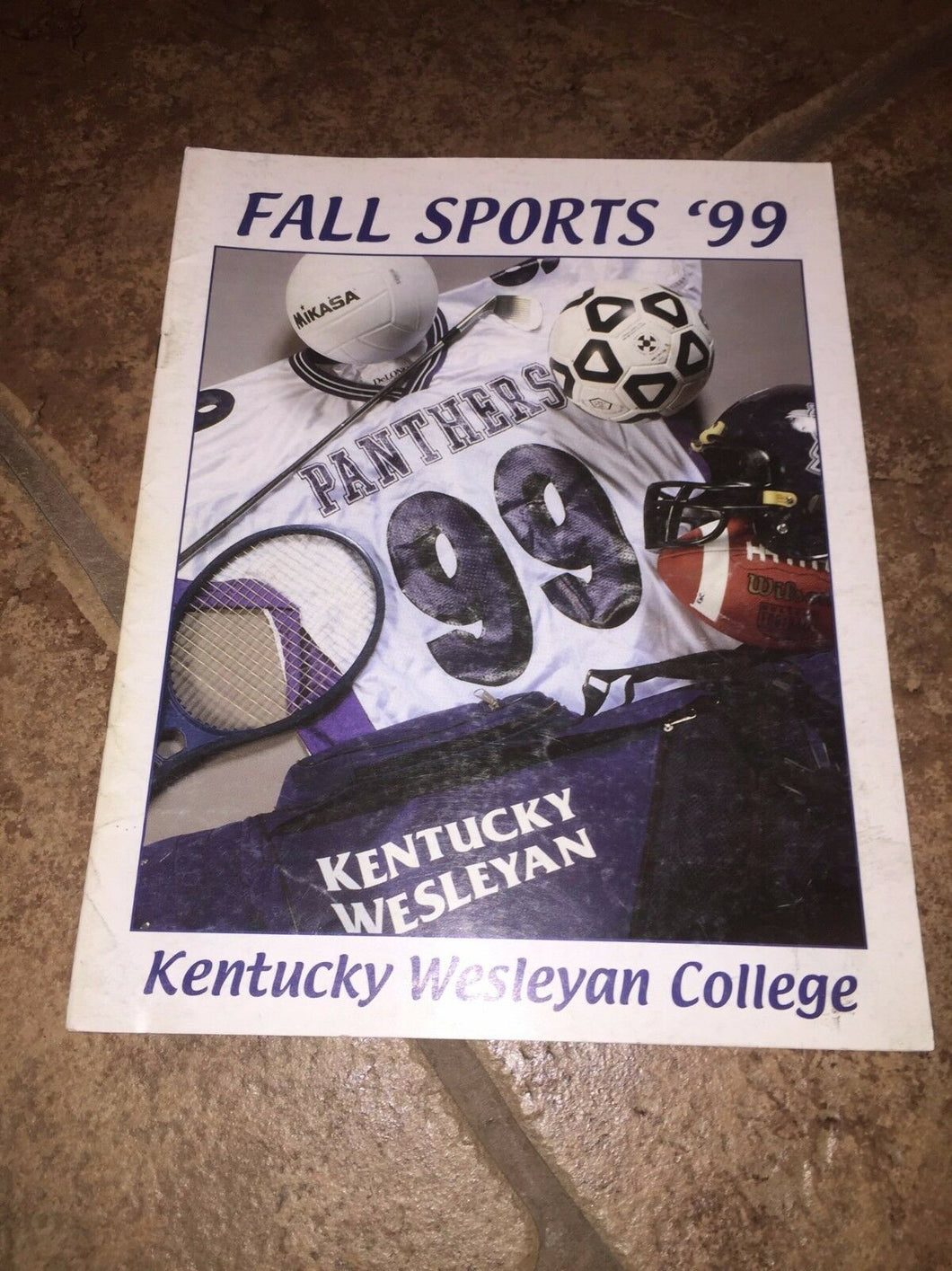 1999 KENTUCKY WESLEYAN COLLEGE FALL SPORTS FOOTBALL SOCCER+  MEDIA GUIDE b4