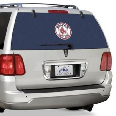 MLB Boston Red Sox Graphical Large Rear Window Film One-Way Vision Truck Suv +