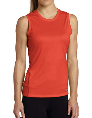 Asics Women's Core Tank Top - WR11621 - Ruby Orange - Size M  Lightweight Mesh