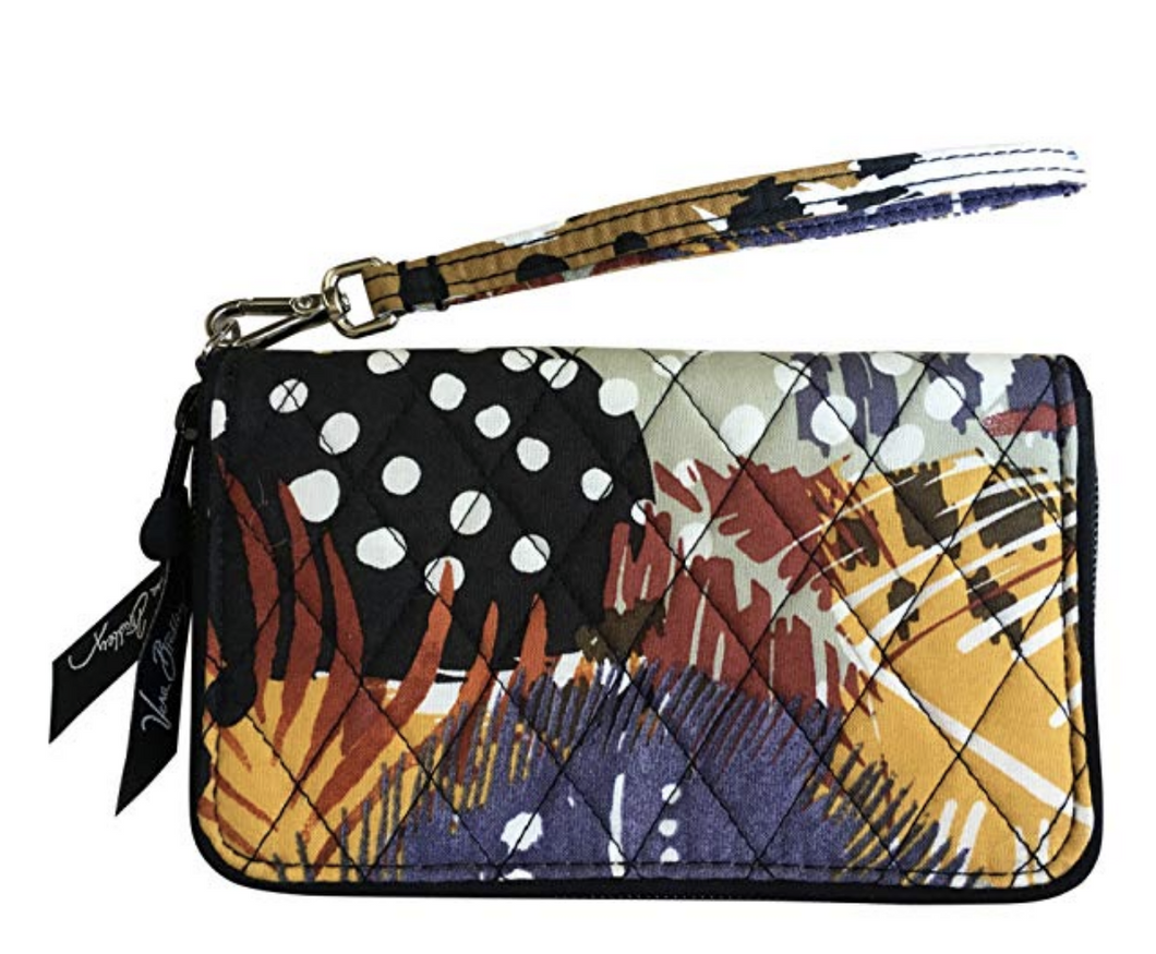 Vera Bradley Iconic RFID Grab & Go Wristlet - Painted Feathers - Wallet - $48