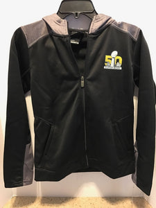 NFL Youth Boys Super Bowl 50 Debossed Hoodie Black Jacket Medium 10-12
