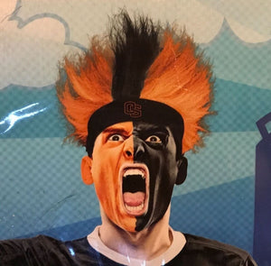 Oregon State University OSU Spirit Wig Fuzz Head Wig Bleacher Creatures OS