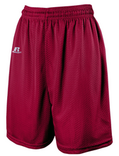 "Load image into Gallery viewer, Russell Men's Tricot Mesh 7"" Shorts Nylon Maroon Choose Sizes M, L, XL - 7M7AFMK"