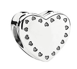 Authentic Pandora Gift From the Heart 2 Tone Charm Opens 791247CZ Silver 14K