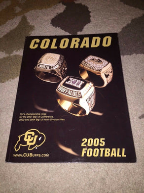 2005 COLORADO UNIVERSITY COLLEGE FOOTBALL MEDIA GUIDE BOX5