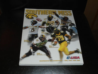 2006 SOUTHERN MISSISSIPPI COLLEGE FOOTBALL MEDIA GUIDE NR MINT BOX 3