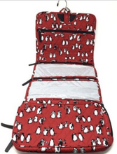 Load image into Gallery viewer, Vera Bradley - Hanging Organizer - Playful Penguins Red - 15829  Travel Cosmetic