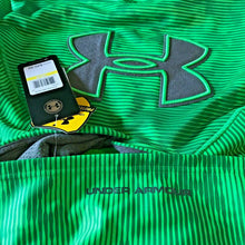 Load image into Gallery viewer, Under Armour UA Storm Boys Big Logo Fleece Hoodie 1249149 Green Stripe Y M $50