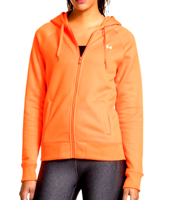 Under Armour UA Storm ColdGear Women Fleece Full Zip Hoody 1248644 Orange XS $65