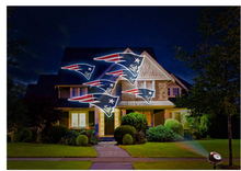 Load image into Gallery viewer, NFL Team Pride Light LED Projector Indoor/Outdoor New England Patriots Logo