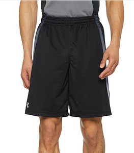 "Under Armour UA HeatGear Mens Tech Mesh 10"" Shorts Loose Fit 1271940 Black  L-2X"