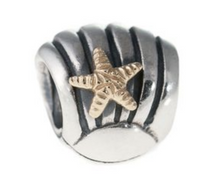 Load image into Gallery viewer, Authentic Pandora Sea Shell Charm 790249 2 Tone 14k Gold & Silver Starfish Bead