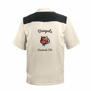 "NFL ""Spare"" Mens Bowling Shirt Retro 50's Style - Many Teams to Choose From"