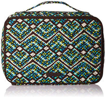 Load image into Gallery viewer, Vera Bradley Large Blush & Brush Makeup Case -Fabric Rain Forest Green