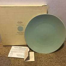 "Load image into Gallery viewer, LENOX Origins 12"" Serving Platter Chop Plate Charger Blue, Cafe or Vanilla $72"
