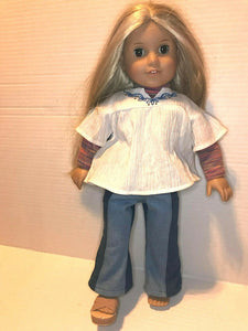 American Girl Doll JULIE with Original Clothes, Missing One Shoe & Belt