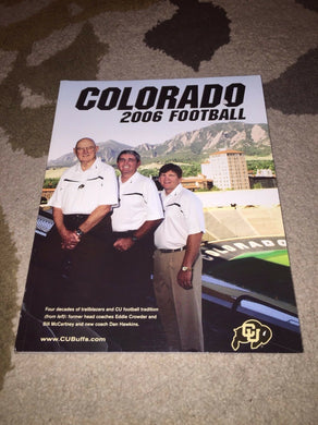 2006 COLORADO UNIVERSITY COLLEGE FOOTBALL MEDIA GUIDE BOX5