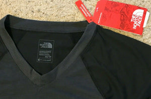 The North Face TNF Women's Reactor V-Neck Short Sleeve Tee Black Size Small $30