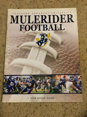 2008 SOUTHERN ARKANSAS UNIVERSITY SAU MULERIDER COLLEGE FOOTBALL MEDIA GUIDE b6
