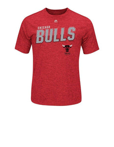 Majestic Hardwood Chicago Bulls Mens Athletic Big Timers Tee Red XL Large Tshirt