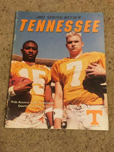 2002 TENNESSEE SPRING REVIEW COLLEGE FOOTBALL MEDIA GUIDE - BOX5