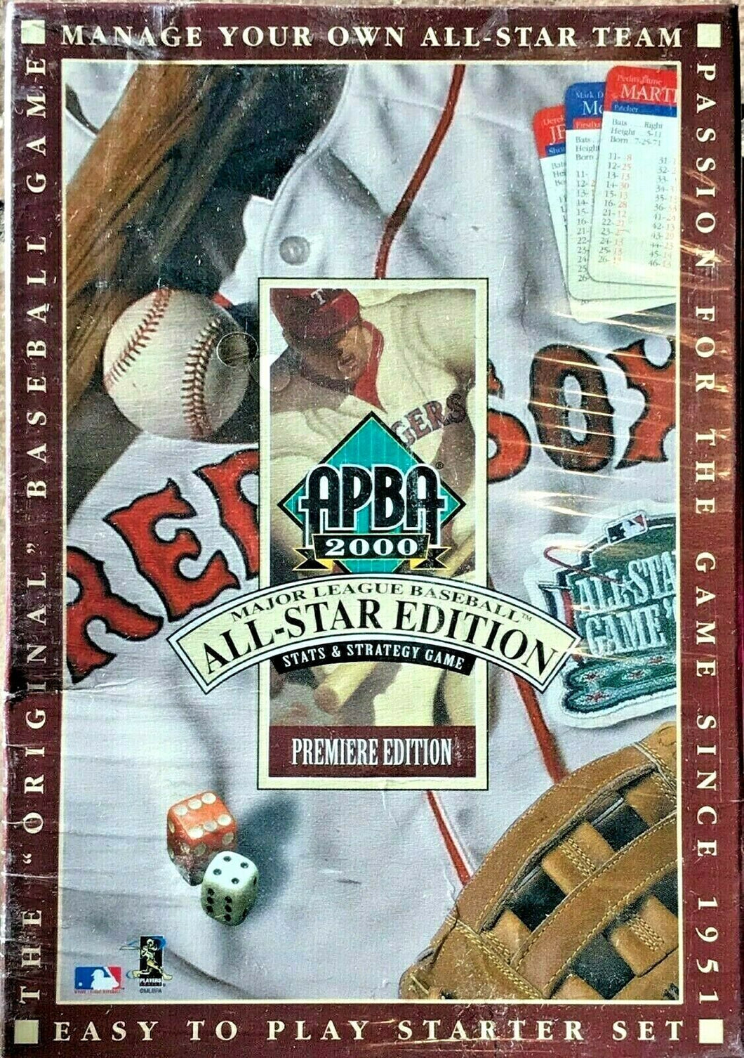 APBA 2000 MLB All-Star Edition Stats & Strategy Game Premiere Edition Sealed